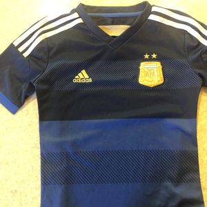 Soccer Shirt-Argentina.  Adidas.  Youth Small